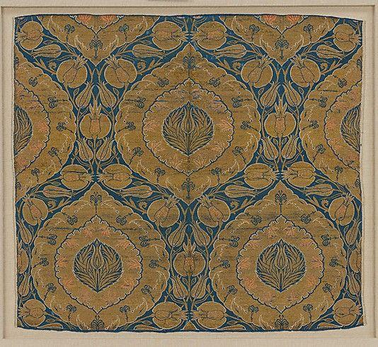 Fragment  Date:     mid-16th century Geography:     Turkey, probably Istanbul Culture:     Islamic Medium:     Silk, metal wrapped thread; lampas (kemha)