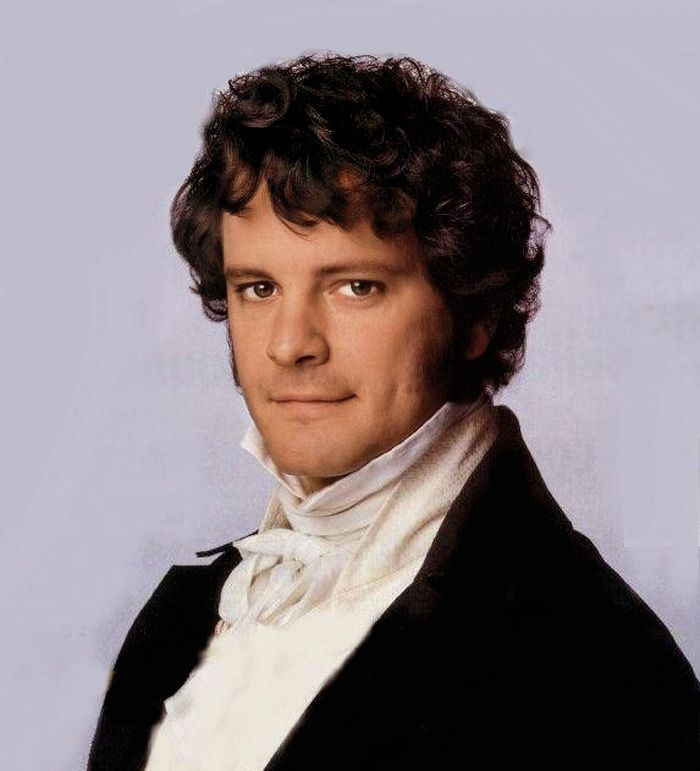 Darcy played by Colin Firth in Pride & Prejudice