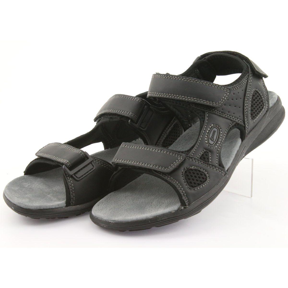Sandaly Sportowe American Club Hl08 Cz Czarne Sport Sandals Womens Sandals Black Sandals