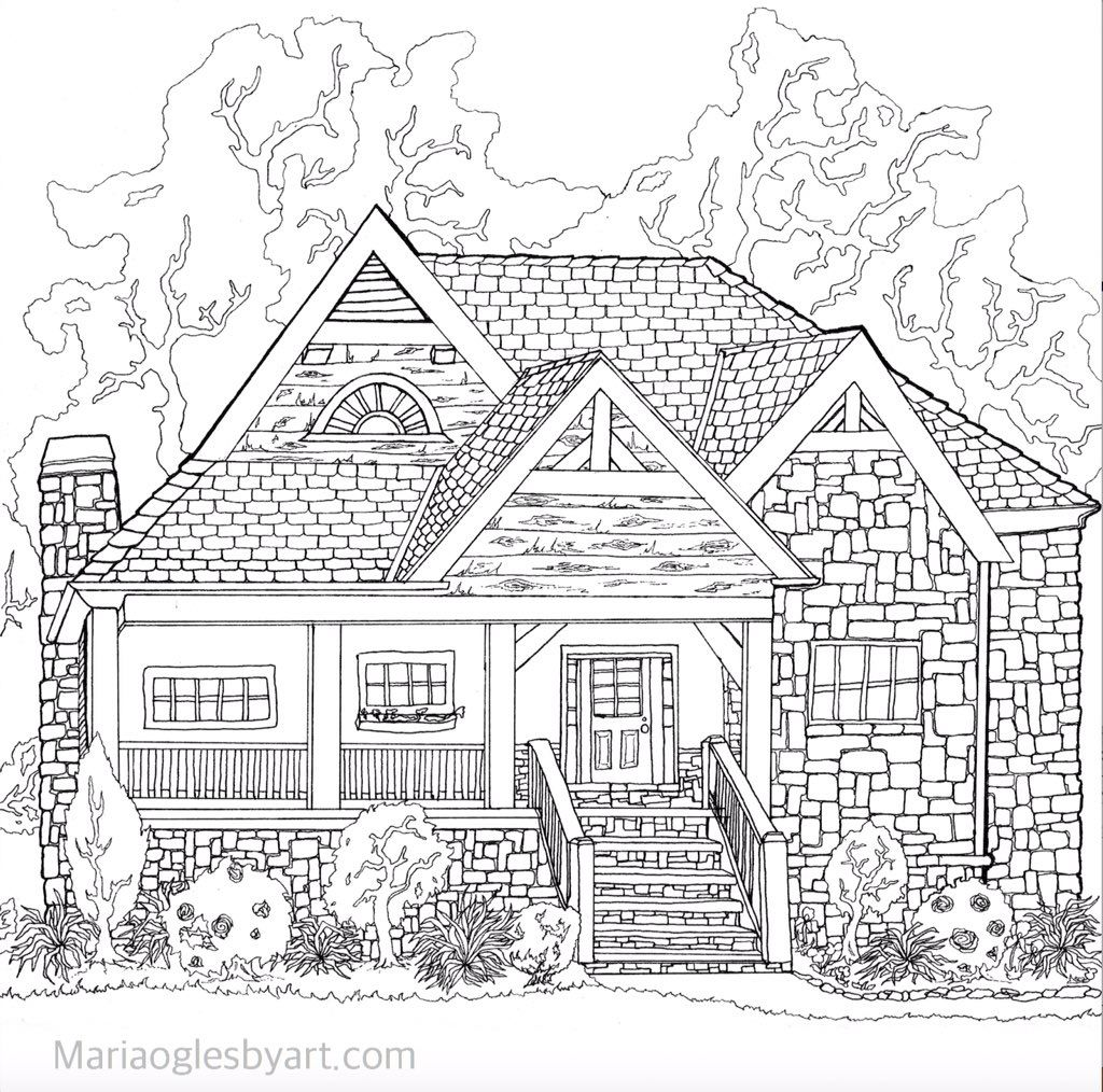 Pin On Buildings Houses Cityscapes Landmarks Colouring Pages