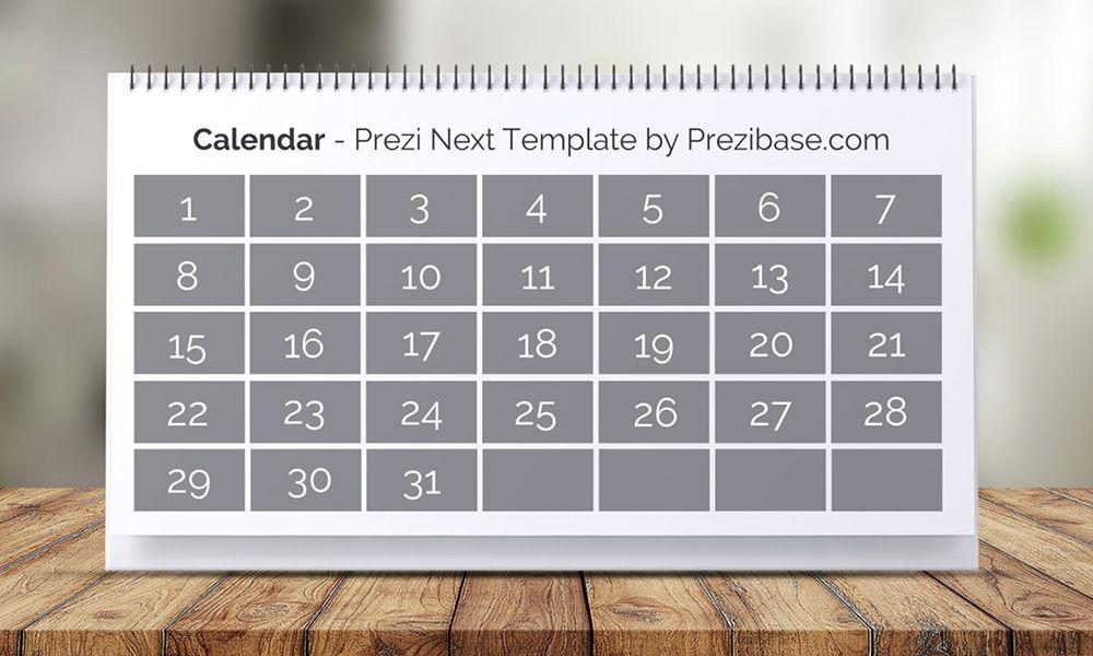 3d Interactive Calendar Maker Online Prezi Next Presentation