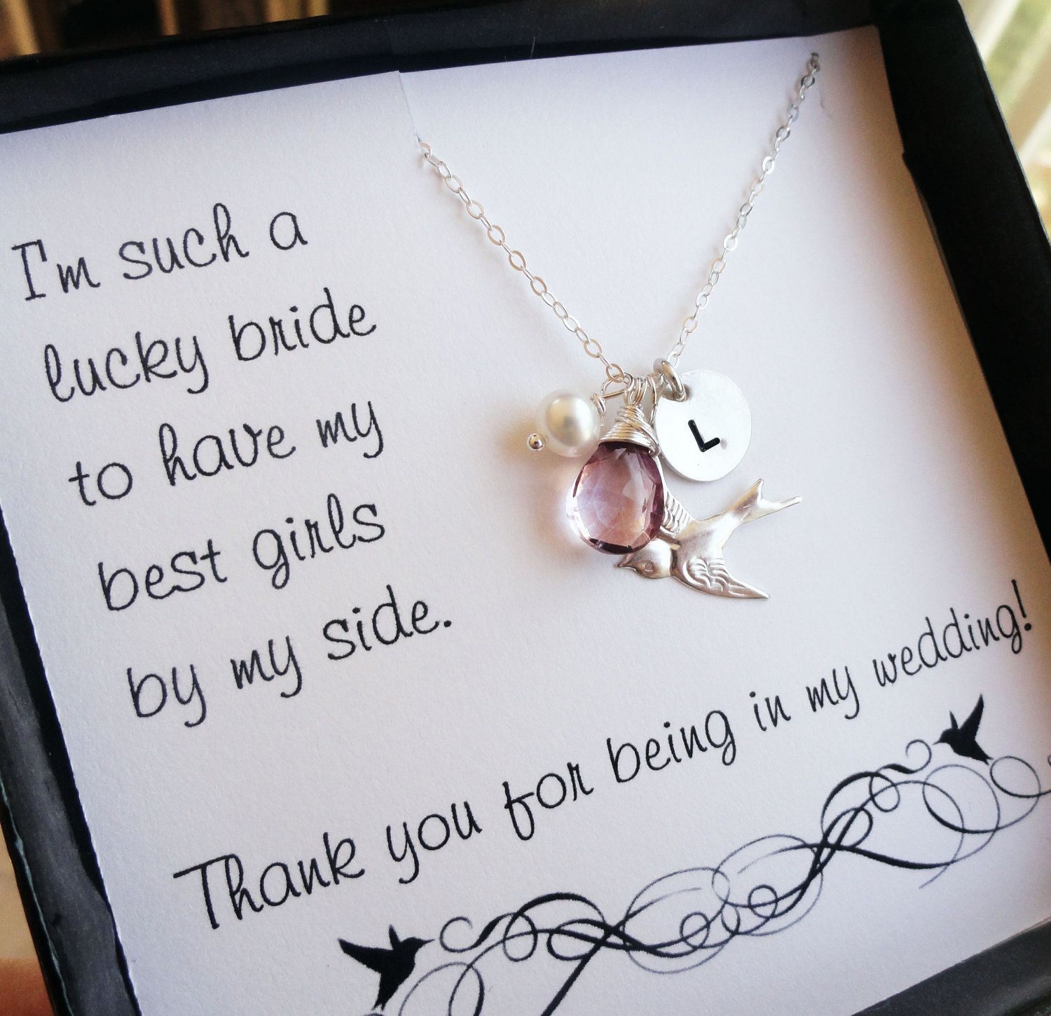 Bridesmaid thank you cards thank you for being in by BriguysGirls