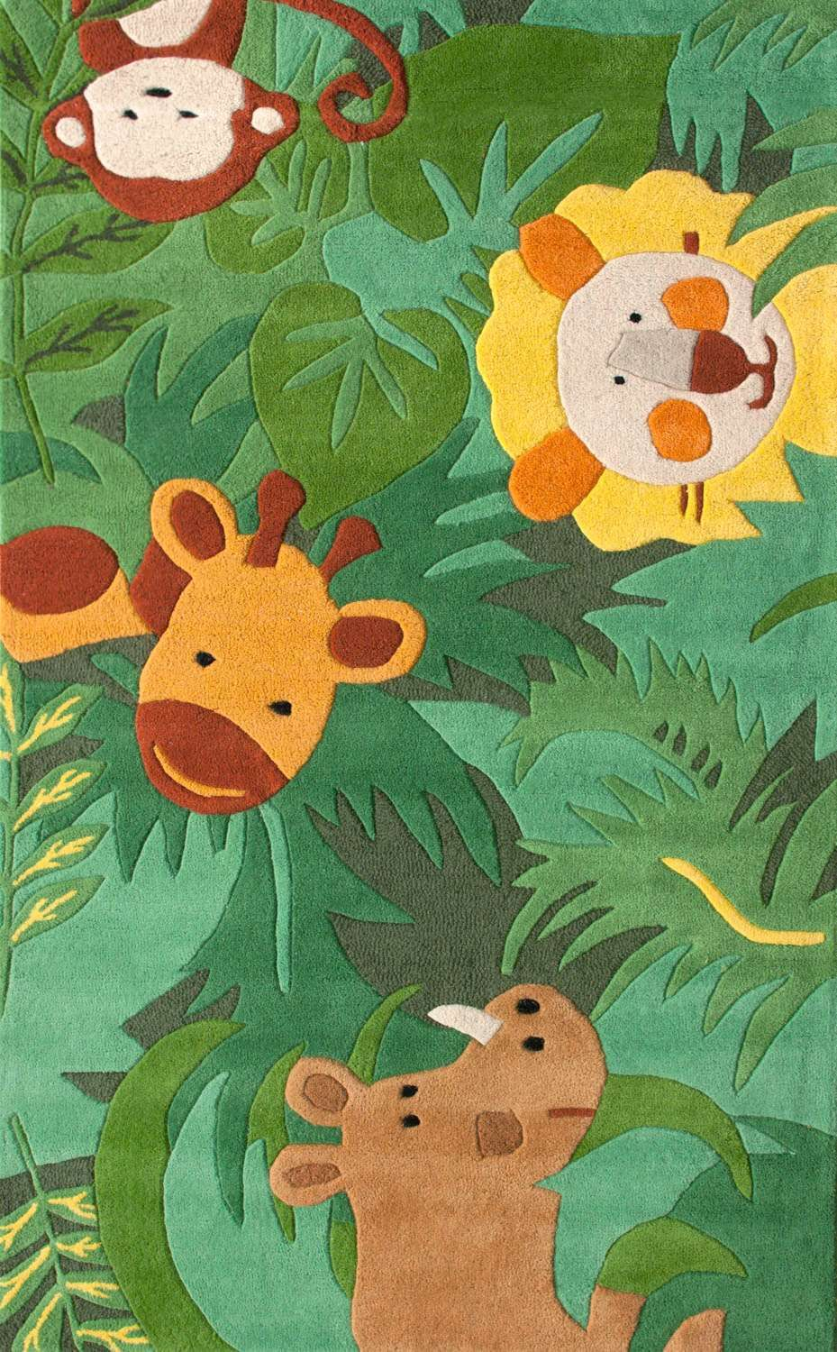 Bring A Smile To Your Children S Faces With This Colorful Adorable Safari Themed And Hand Tufted Wool Rug Well Made Heavy Thick Piled Plush