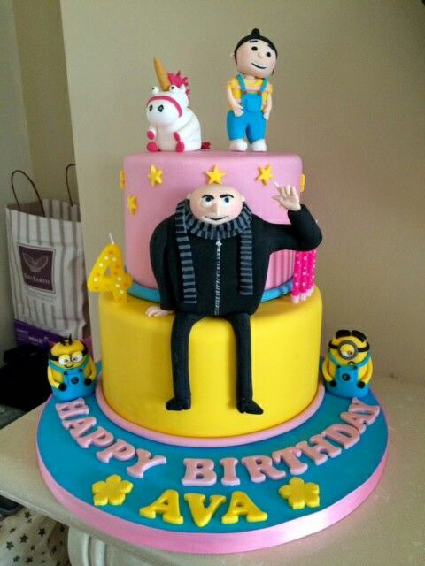Deable Me Minion Cake Gru Agnes And Unicorn