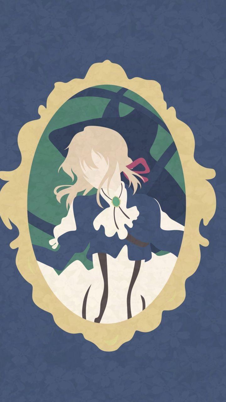 Violet evergarden, anime, blonde, minimal, 720x1280 wallpaper