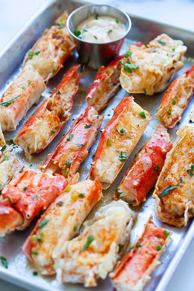 Baked King Crab The Best Crab Legs Recipe Rasa Malaysia Crab Legs Recipe Baked Crab Legs Seafood Recipes