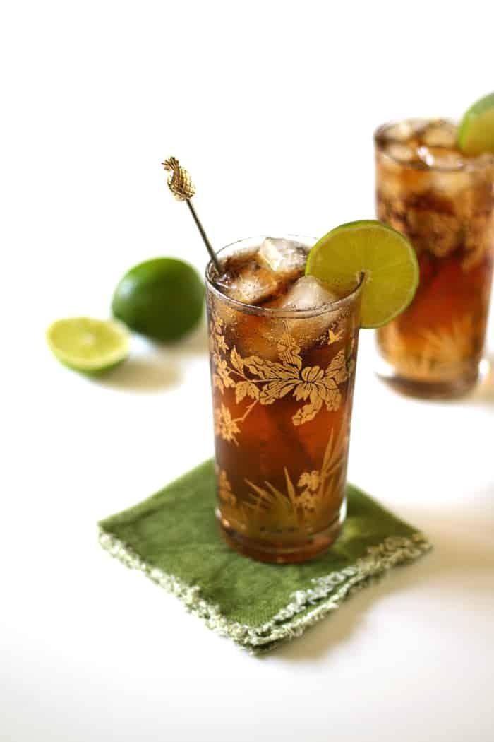 Cuba Libre with Homemade Cola Syrup #cubalibre