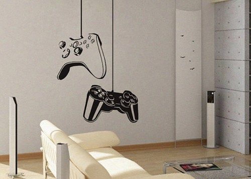 Video Game Wall Decals Game Controller Modern Xbox Ps3 Games Kids Video Art Decals  Wall Sticker