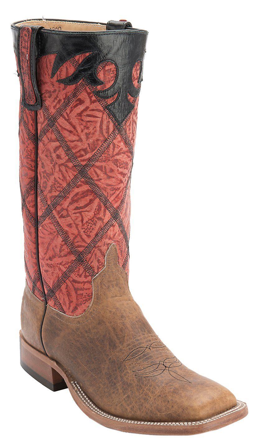 19ea56fe70d Anderson Bean Men's Brown with Red Diamond Stitched Stovepipe Top ...