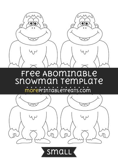 Free Abominable Snowman Template - Small Shapes and Templates