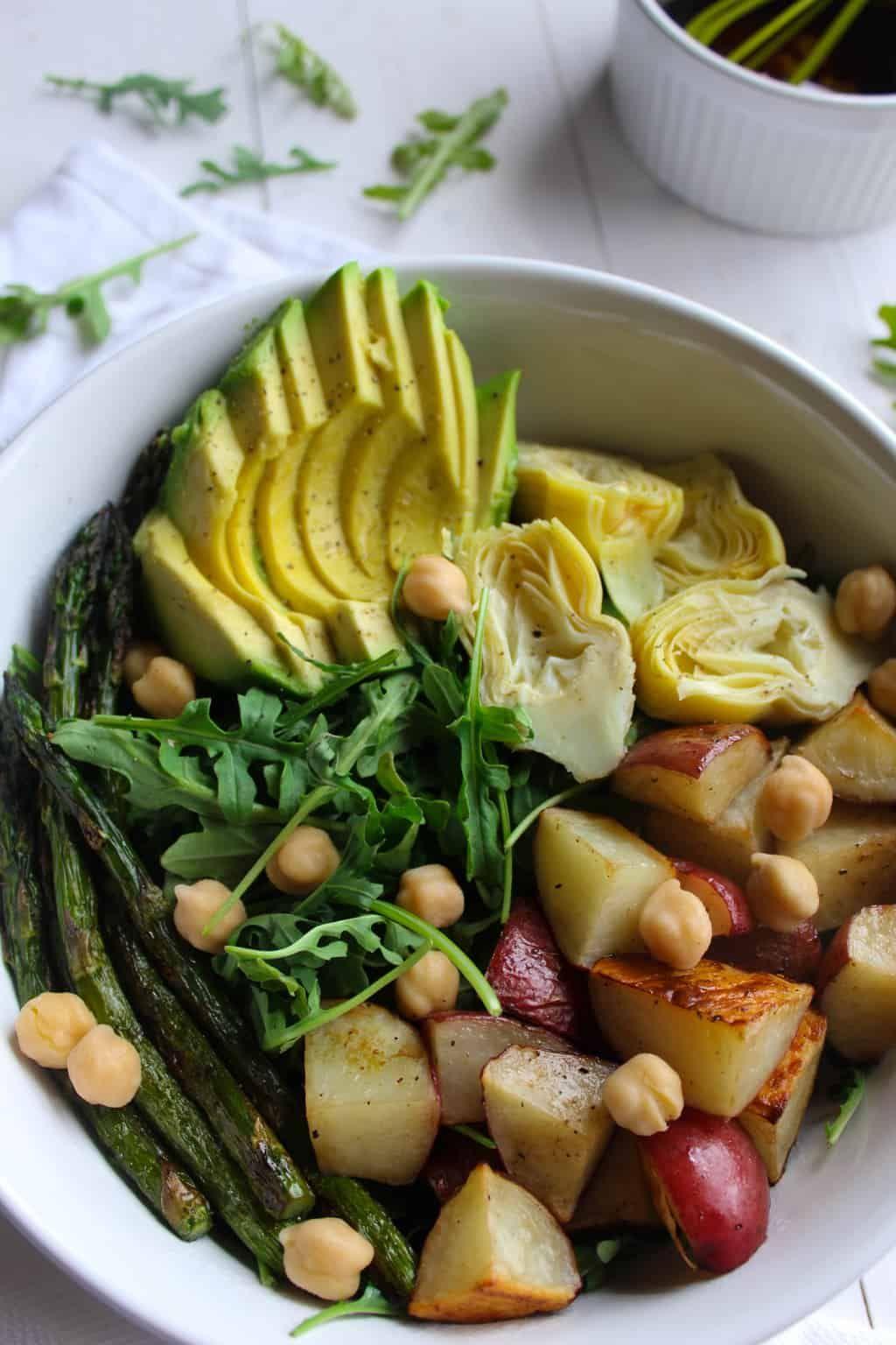 Balsamic Spring Vegetable Salad vegan, gluten free Gallery
