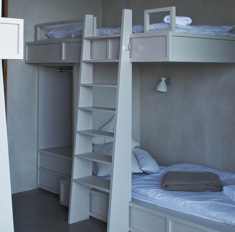 spacious bunks  (lighting, convenience bar, ladder width)