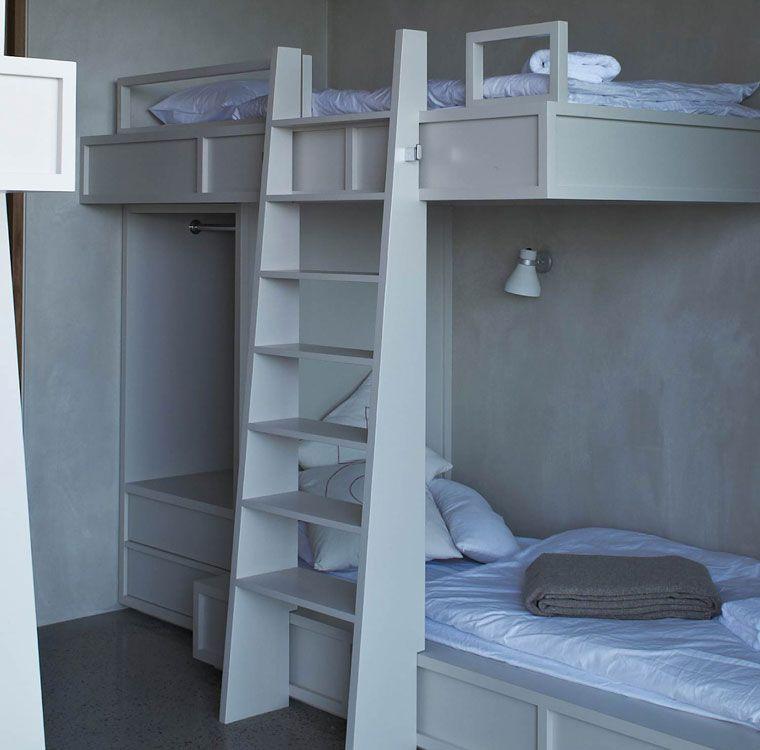 spacious bunks  (lighting, convenience bar, ladder width)