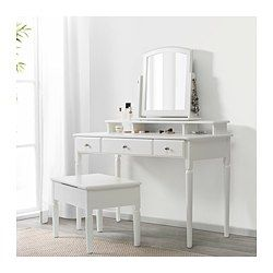 Tischspiegel Tyssedal Weiss In 2019 Diy Ikea Vanity