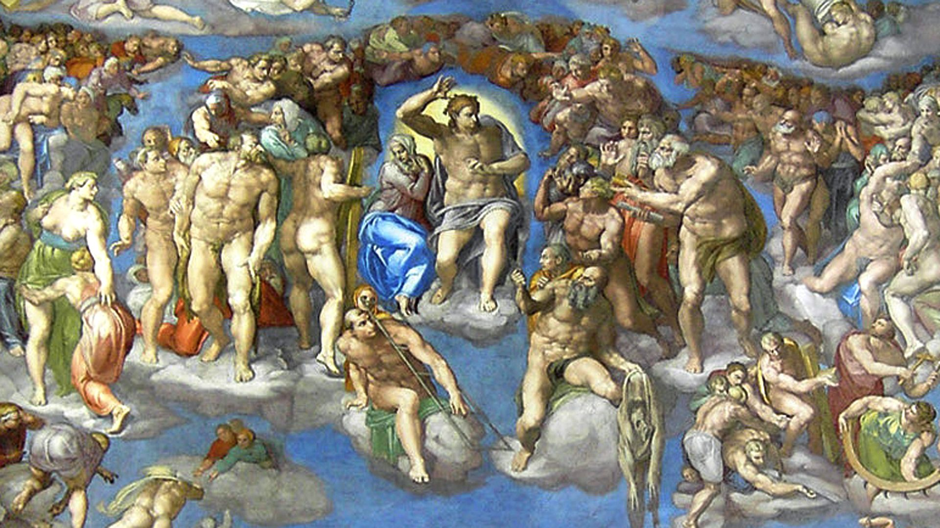 a history of michelangelos painting the last judgment There are many curiosities in michelangelo's earth-shattering achievement in the last judgmentone of them, as omar calabrese has noted, is christ's right hand.