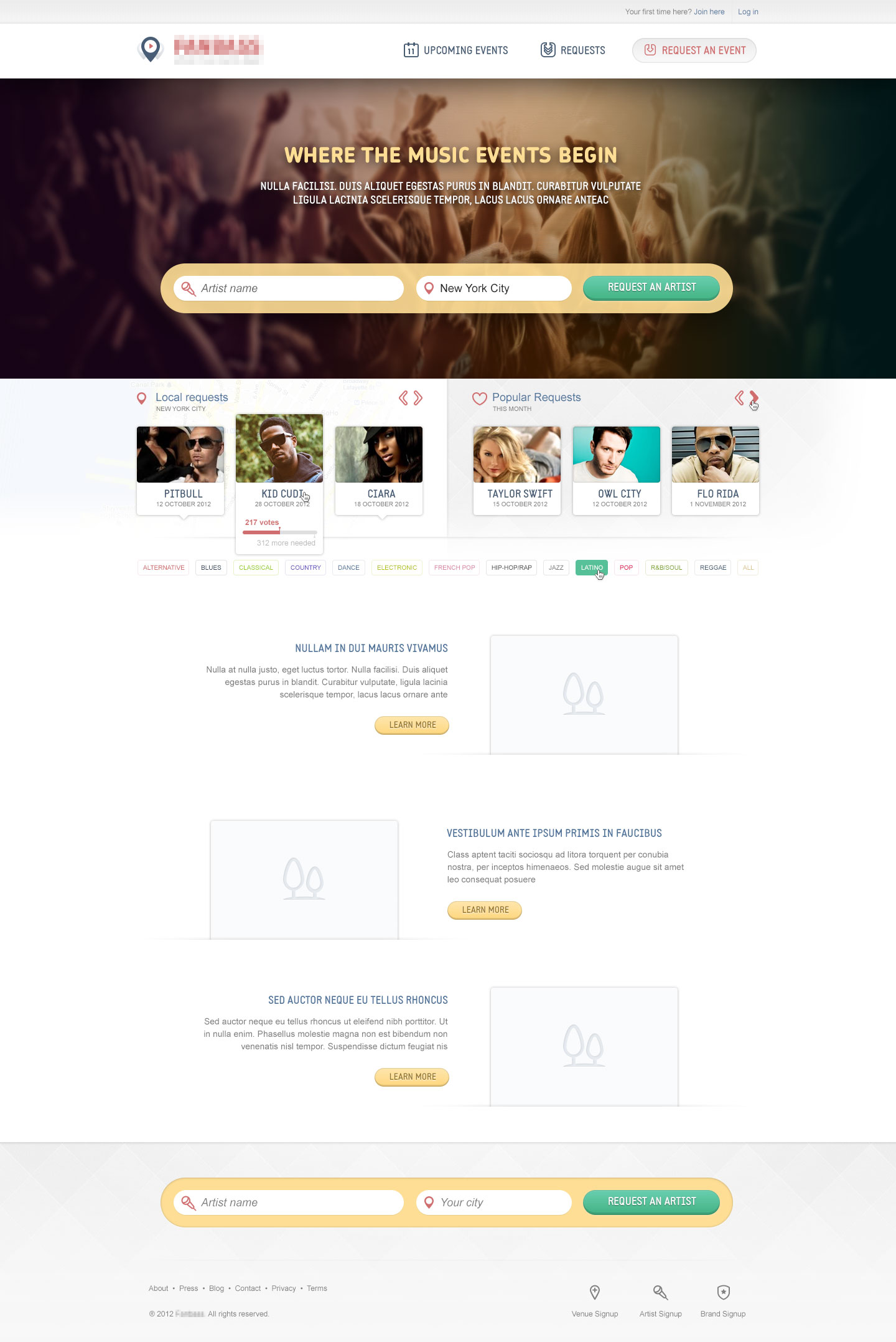 Web Design For Fanbass Music Web Design And Development By 3magine Web Design Web Development Responsive Web Landing Page Web Design Web Development Design