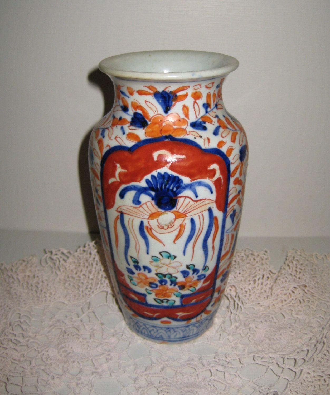 Japanese Imari Porcelain Vase via Etsy.