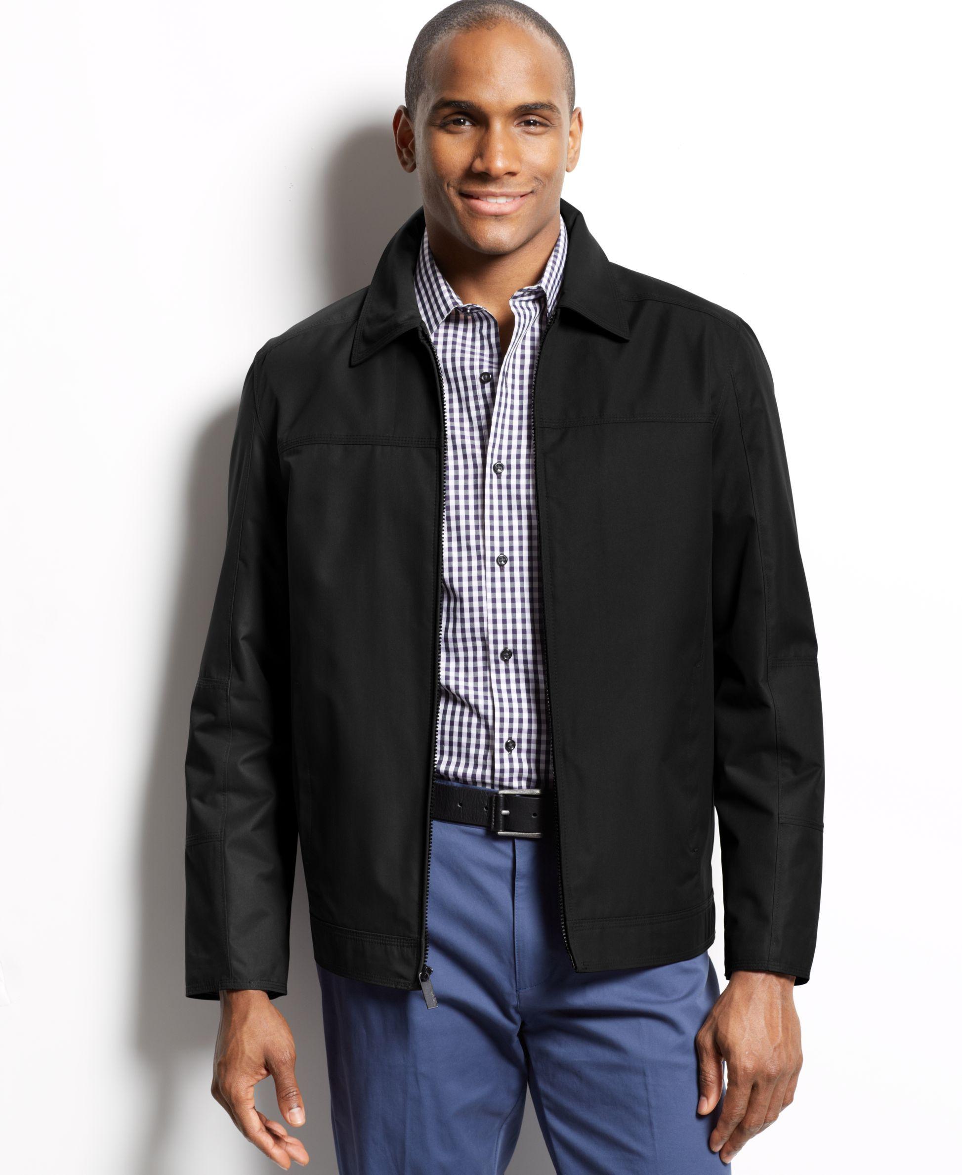 Perry ellis open bottom full zip jacket products pinterest