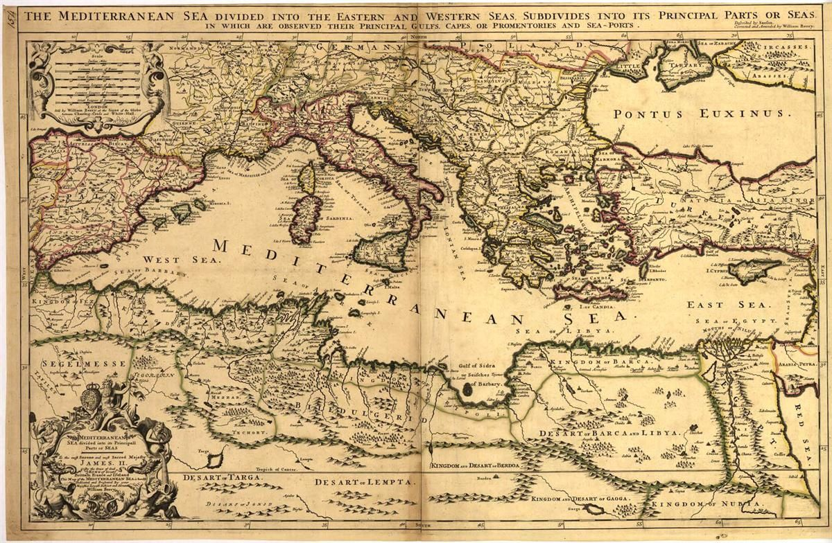 Mediterranean - Antique Map | Map of the mediterranean ... on united states globe map, show united states america map, united states usa travel map, united states state map of the world,