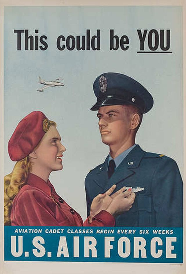 25 Awesome Vintage Air Force Recruitment Posters | Vintage