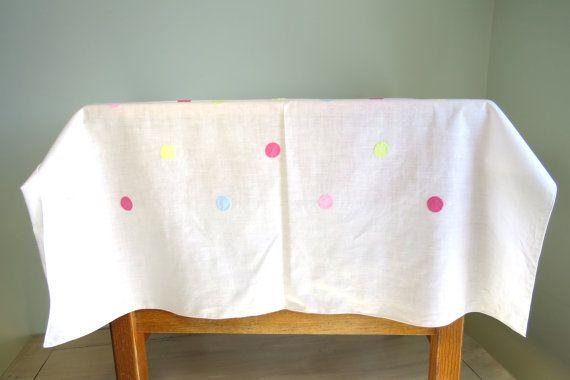 Vintage Handmade Applique Tablecloth Mid Century by NoSamVintage, $12.00