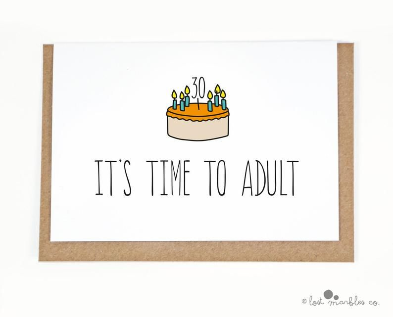 30th birthday card card for her card for him adult