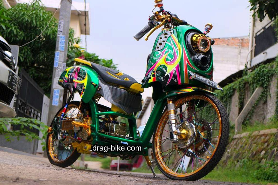 Honda Scoopy Modif Simple Ring 17 Papan Motor Honda Drag Bike