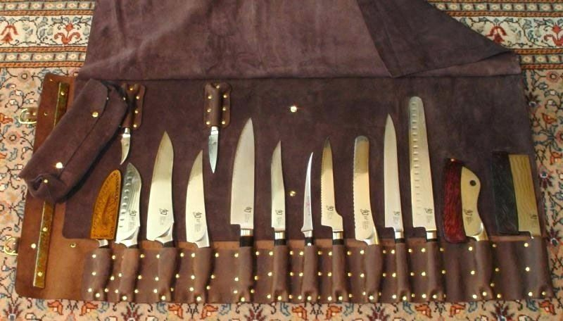 Knifes Leather Knife Rolls Chef Knife Roll Leather