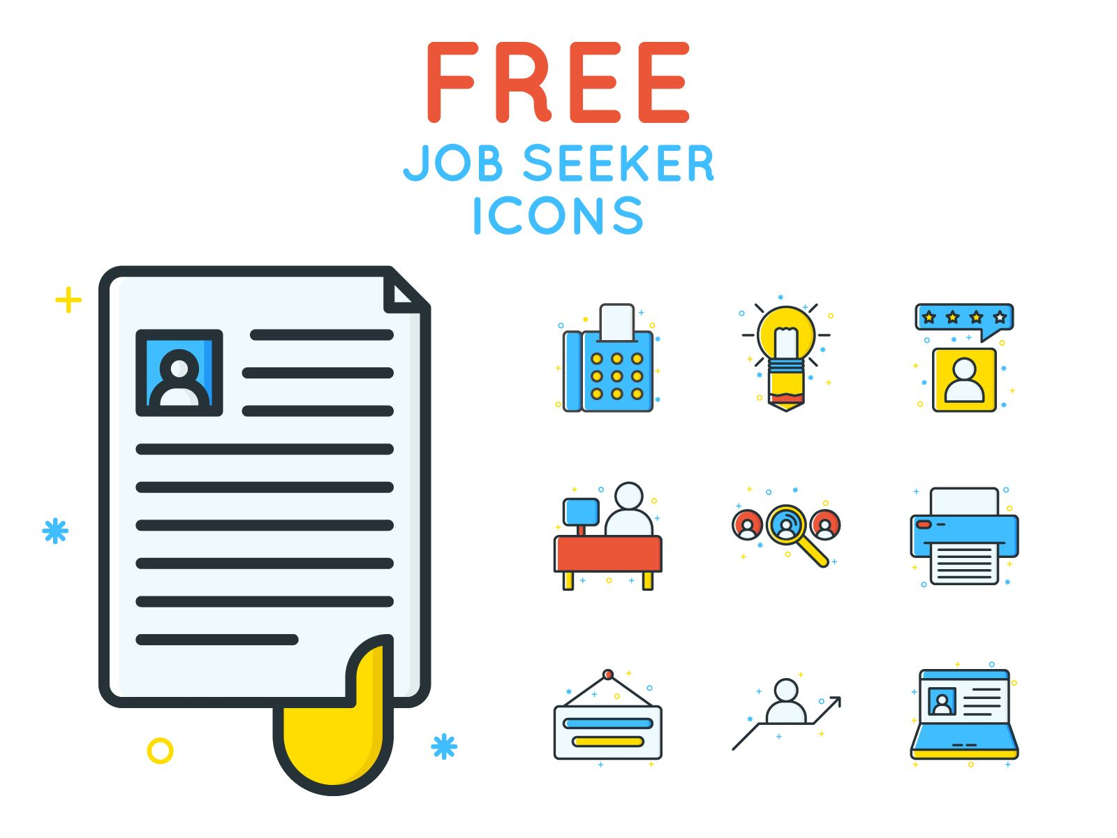 Free Job Seeker Icons Icons Fribly Job Seeker Icon Icon Pack