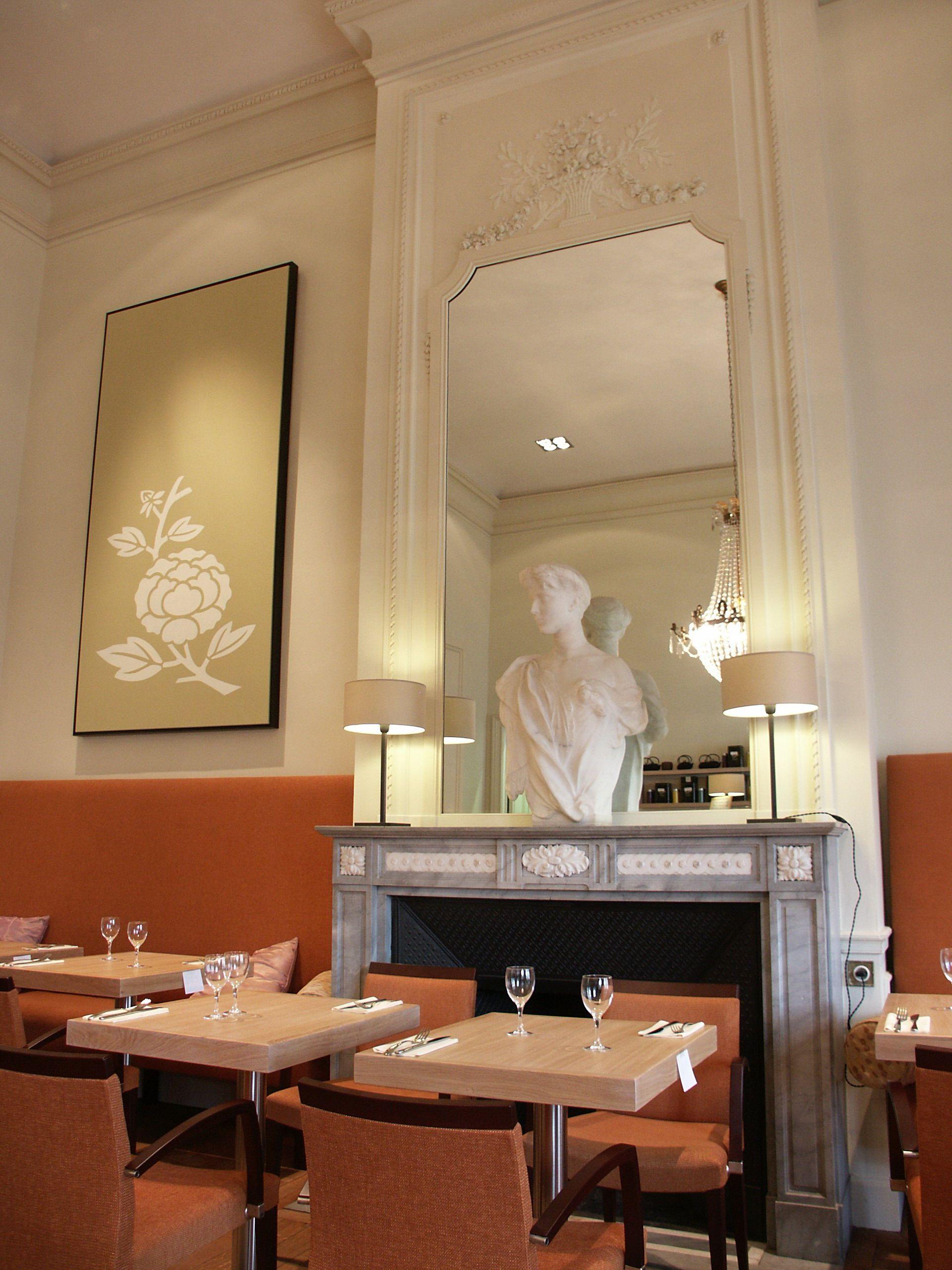 """Le """"Lunch & Tea"""", le restaurant du musée BELvue (dont j'ai coordonné l'aménagement architectural et technique)."""