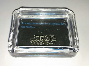 Star Wars Title Scene Glass Ashtray change tray Candy dish display