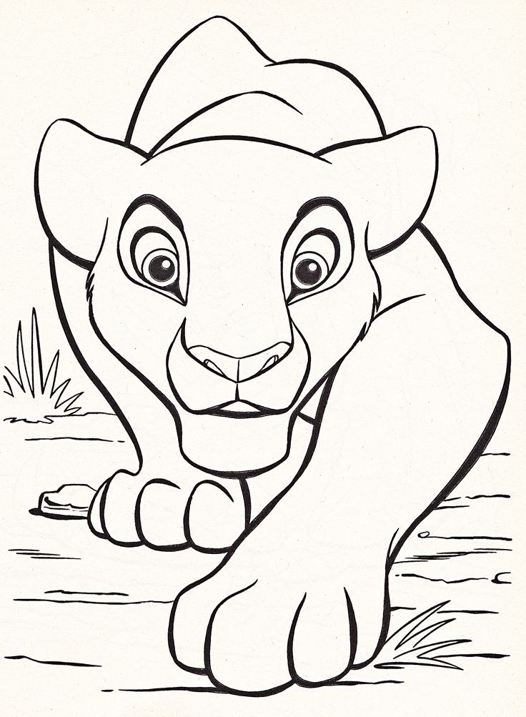 disney coloring pages lion king - Free Large Images | Pinterest ...