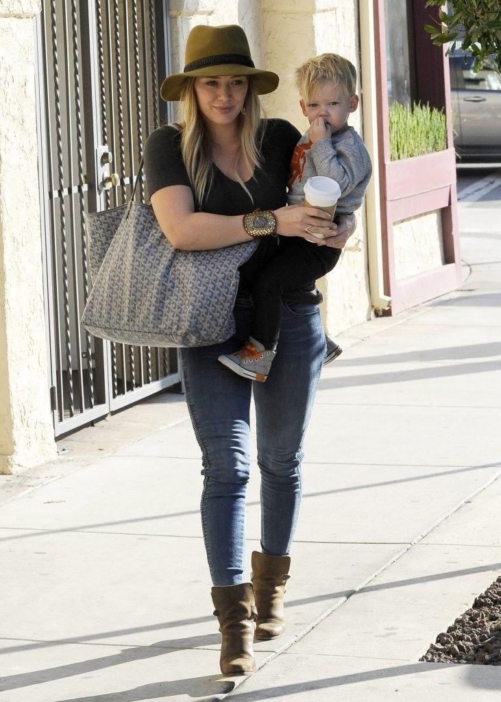 d20a0531ada65 Hilary Duff wearing Rag   Bone Floppy Brim Fedora in Mustard Rag ...