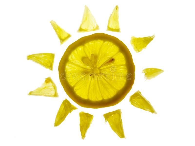 Sun Lemon A sun lemon with with background