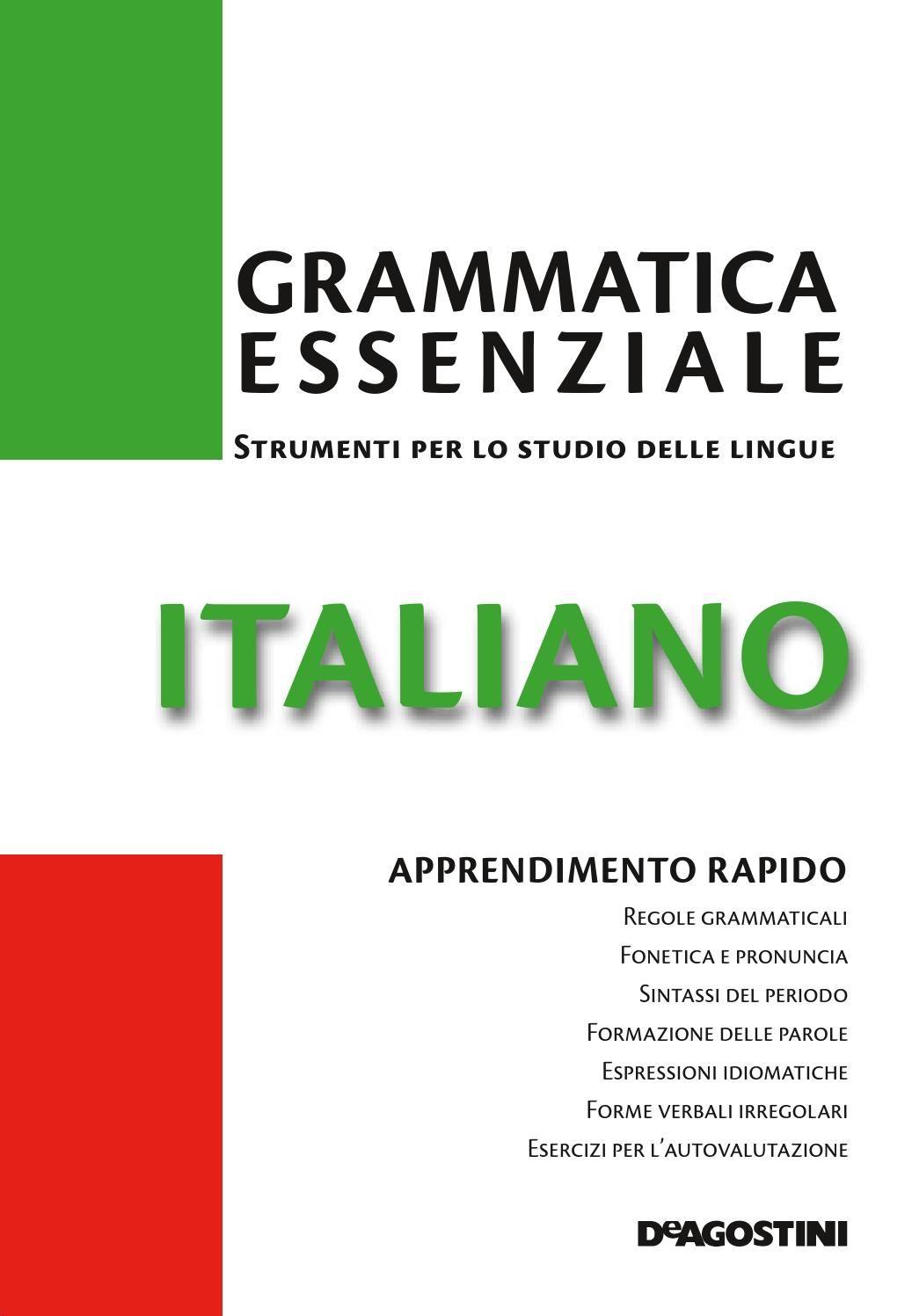 Lingua Italiana Italiano Grammatica Lingua Italiana E Lingua
