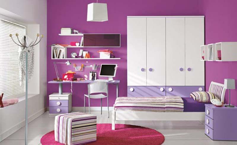 Littlegirlspurplebedroompaintingcolorideas Girls Bedroom