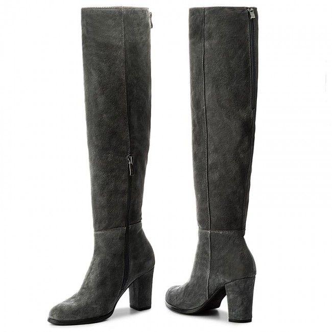 Muszkieterki Lasocki 2426 Szary Boots Knee Boots Heels