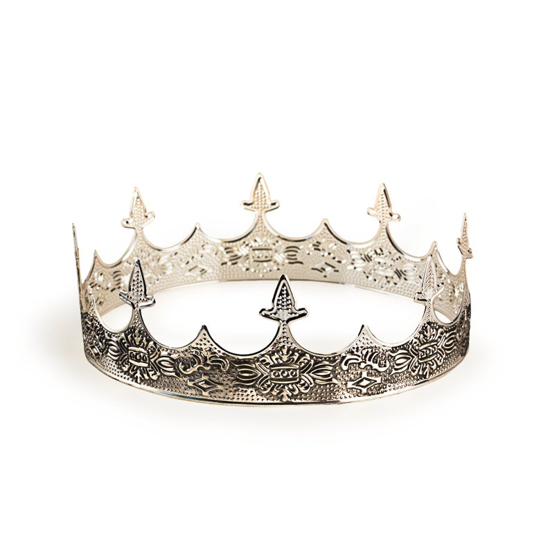 Medieval King S Crown Silver Crown For Men Renaissance Middle Ages European Royal Highness Crown In 2021 Kings Crown Silver Crown Medieval Crown