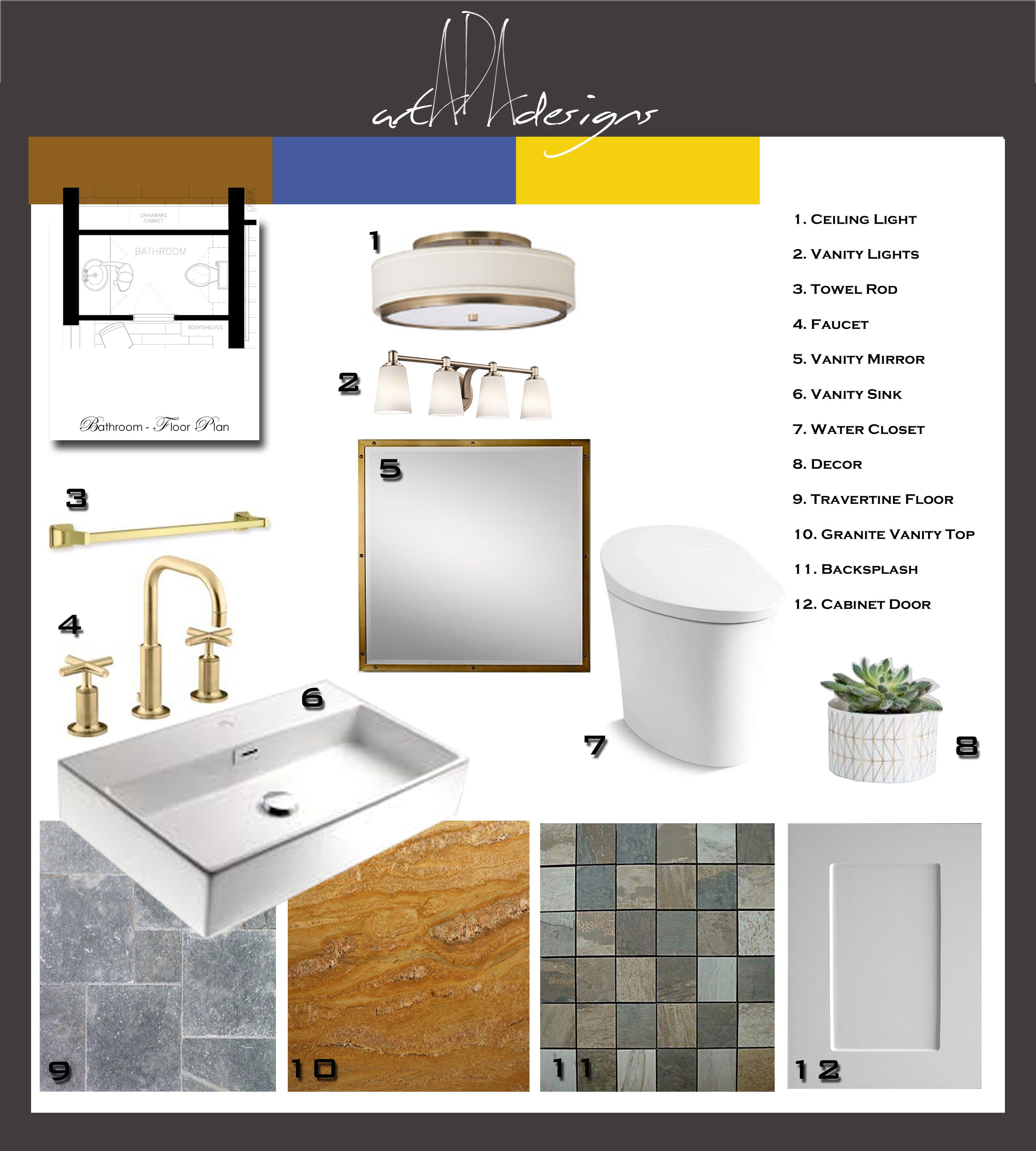 Assignment 9 Bathroom Mood Board Interior Design Presentation