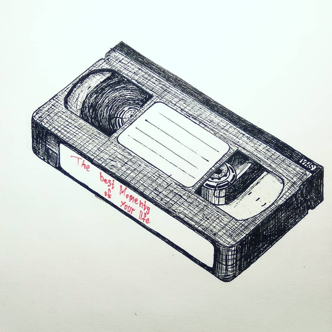 Vhs The Best Moments Of Your Life Vhs Moments Memories Life Art Sketching Scetchbook Pen Sketch Artwork Illustration Crafts Arts And Crafts Cards