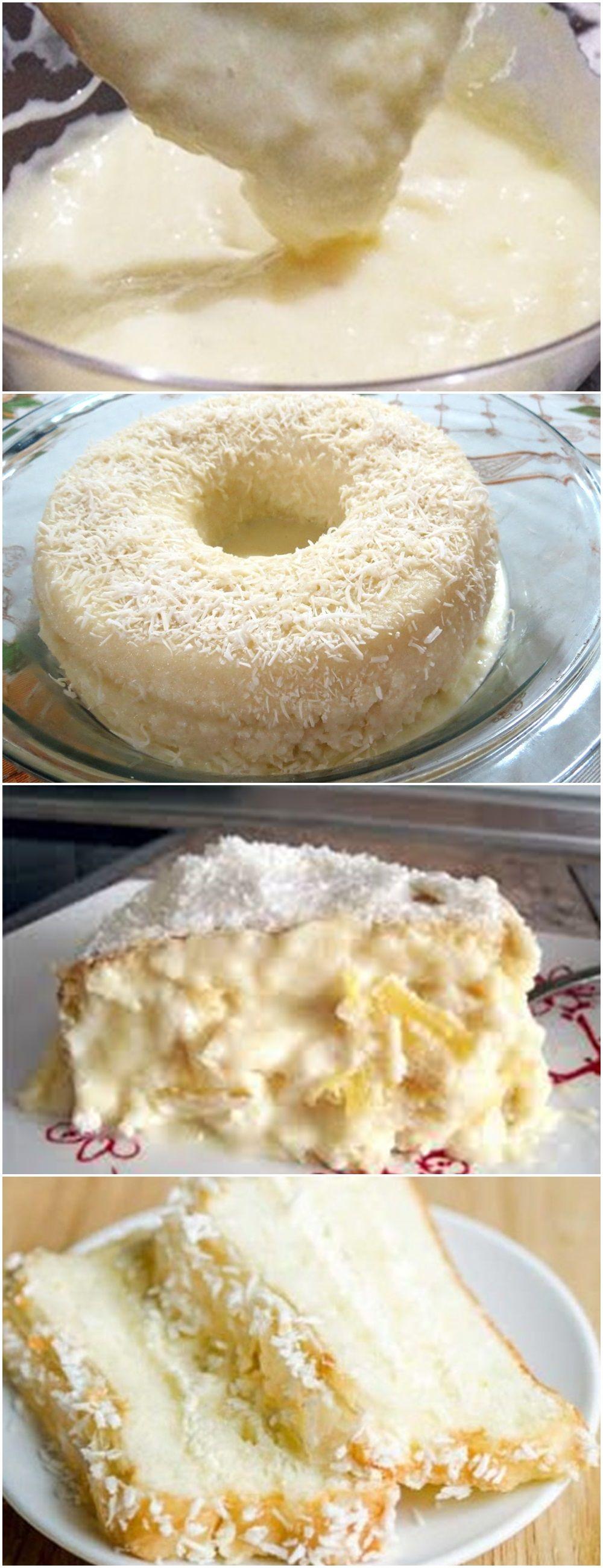 Bolo Cremoso De Coco E Leite Condensado Dessert Recipes Food