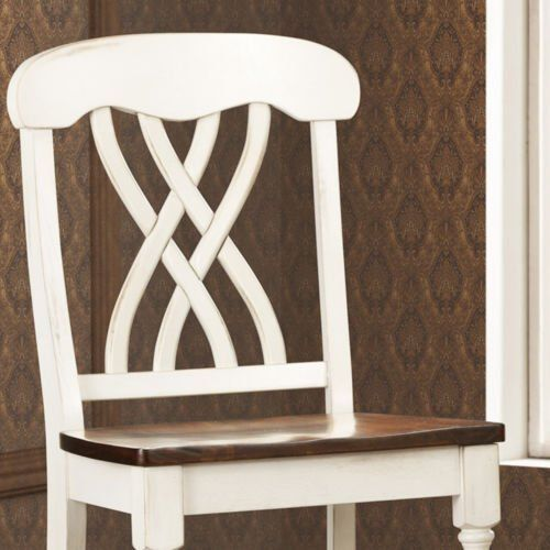 Best Mackenzie White Counter Height Chair Set Of 2 Accent 400 x 300