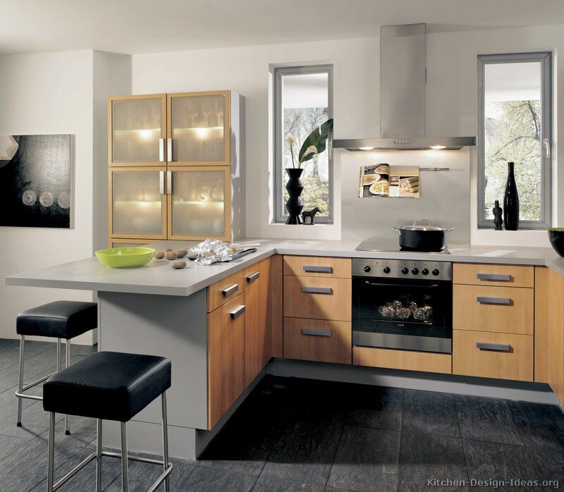 #Kitchen Idea Of The Day: Modern Two-Tone Kitchens. (By