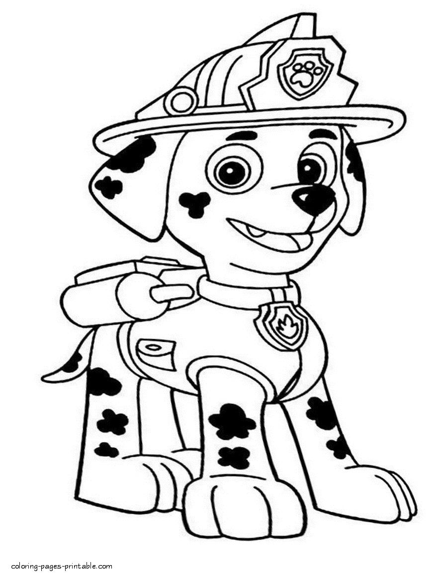 10 marshall paw | Paw patrol coloring pages, Paw patrol ...