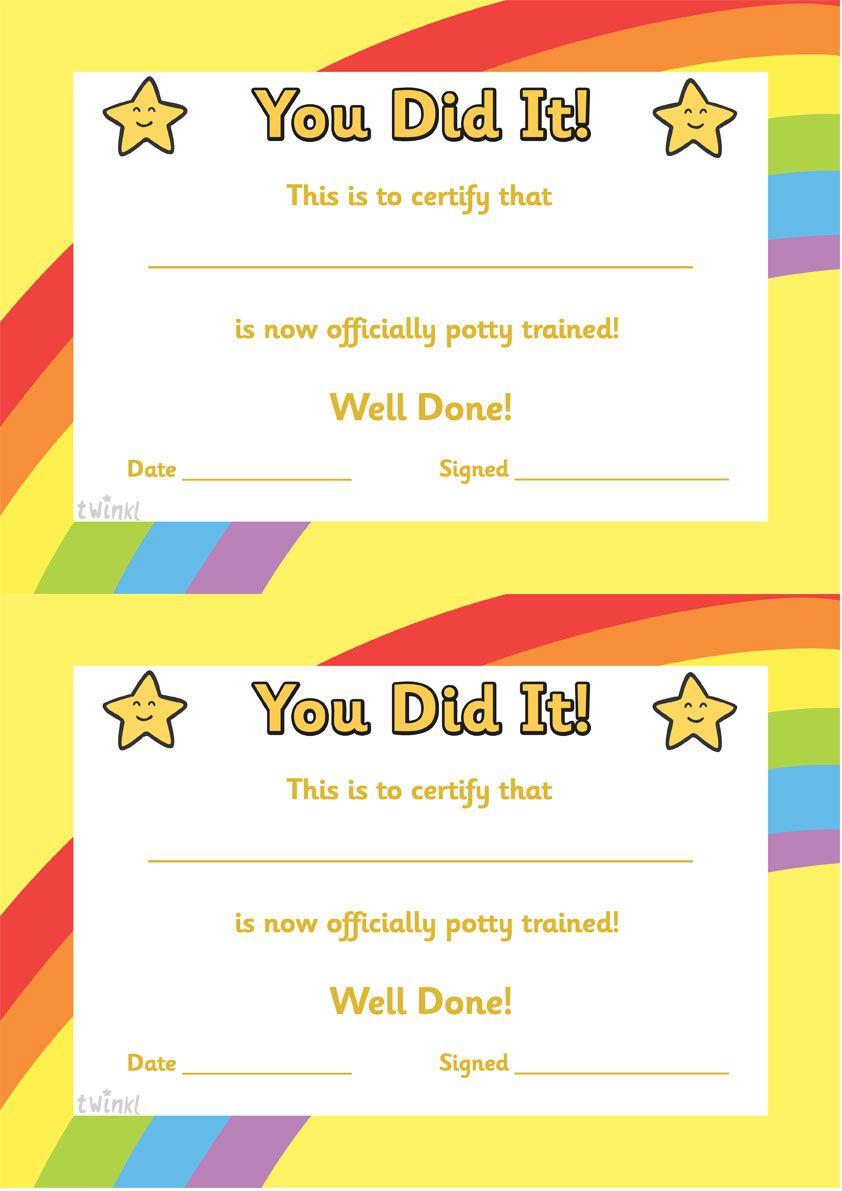 sports certificate art award certificate certificatestreet com twinkl resources >> potty training certificate >> classroom printables for pre school