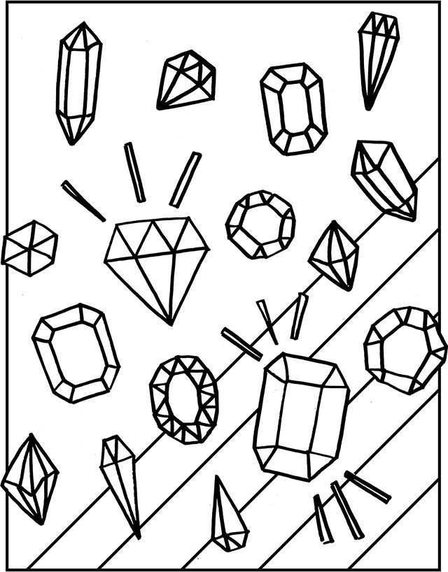 Free Gemstones Coloring Page Free Printable Coloring Pages