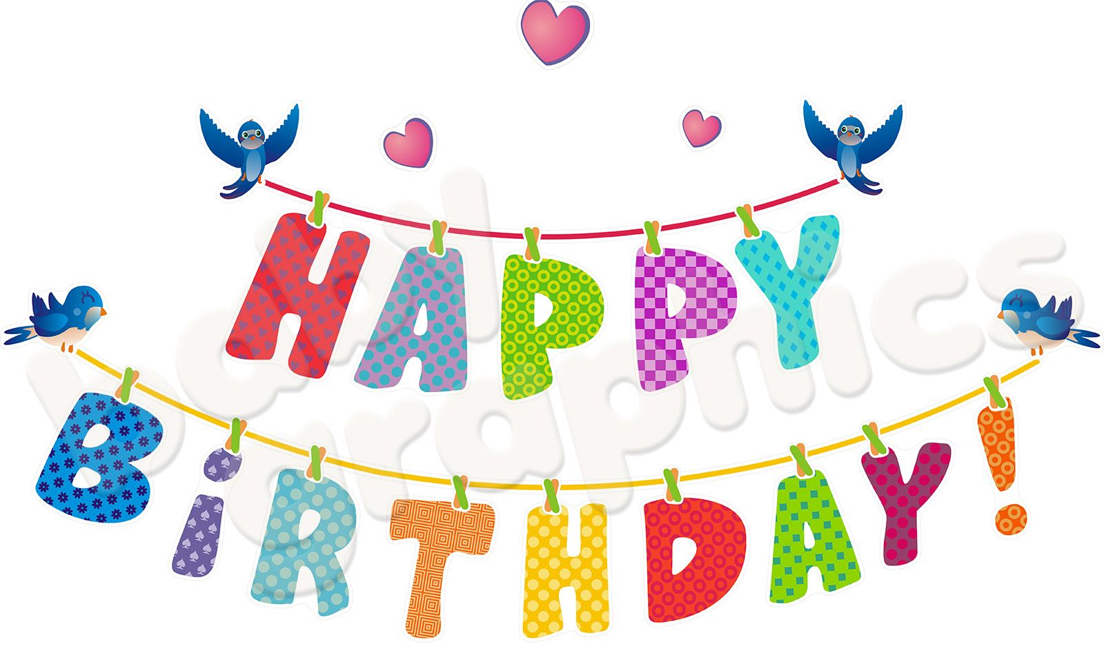 About Happy Birthday Letters Removable Reusable Wall Stickers
