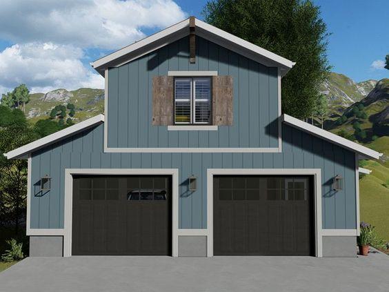 065g0017 boat storage garage plan with 1bedroom
