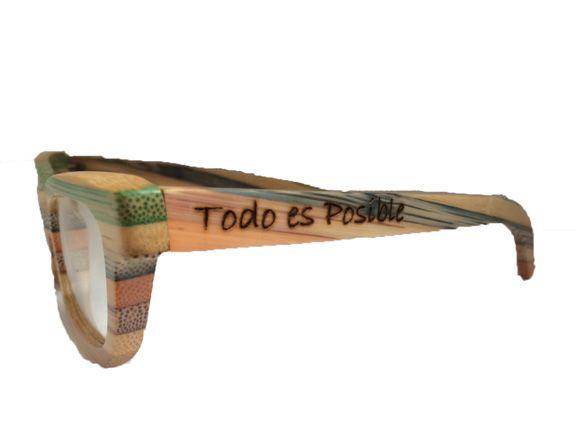 bd0a7c6c1d Montura de gafas de madera Rainbow | Gafas Soniapew personalizadas ...