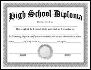 Free homeschool diplomas templates and 3 ways your for Free high school diploma templates